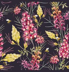 watercolor grevillea pattern vector image