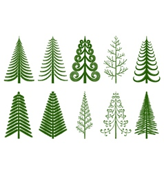 Abstract pine trees vector image vector image