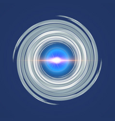 blue with grey swirl spiral vector image