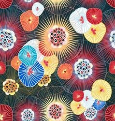 bright graphic abstract pattern of the fantastic vector image