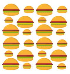burger food unhealthy seamless pattern vector image