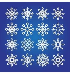 Decorative Snowflakes icon collection vector image