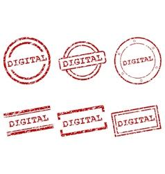 Digital stamps vector image vector image