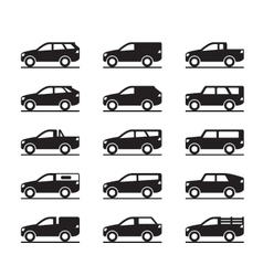 Off roads and sport utility vehicles vector image vector image