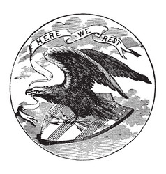 The official seal of the us state of alabama in vector