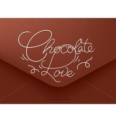 Valentines envelope chocolate vector image vector image