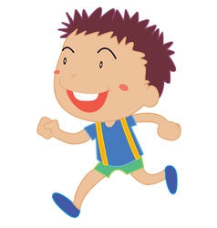 Little Boy running vector image