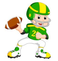 young kid playing football vector image vector image