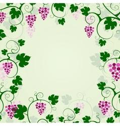 Grape vines background frame vector image