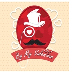 Greeting card by my valentine happy Day vector image vector image