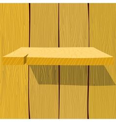 Wooden shelf EPS10 vector image