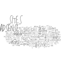 Adsense good or bad text word cloud concept vector