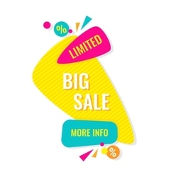 Advertising banner Big limited sale More info vector image