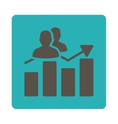 Audience Graph Icon vector
