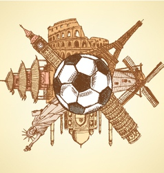 Ball Buildings vector image
