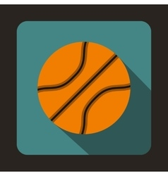 Basketball ball icon in flat style vector image