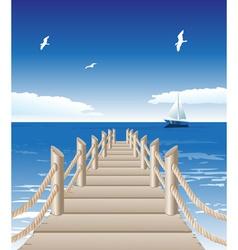 Beach Pier Background vector