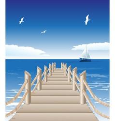 Beach Pier Background vector image