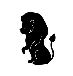 Black lion silhouette vector