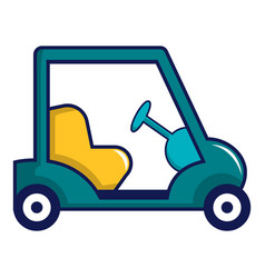 blue golf cart icon cartoon style vector image