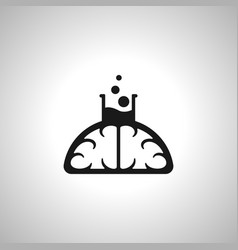 Brain lab icon vector