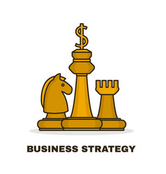 business strategy concept chess gold vector image