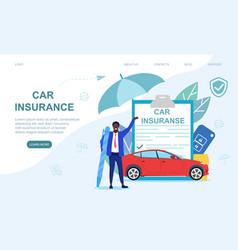 Car insurance concept vector
