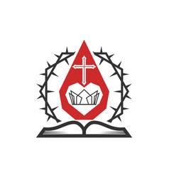 Christian church logo vector