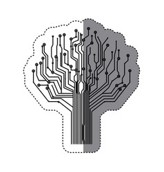 circuit tree icon image vector image