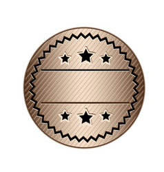 Color circular stamp with starry border and vector