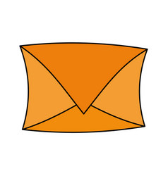 Color image cartoon envelope mail closed vector