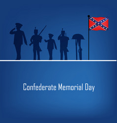 confederate memorial day vector image