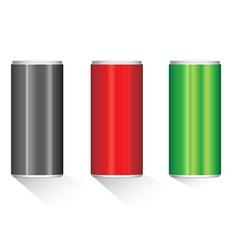 Create aluminium cans vector image