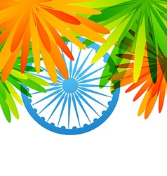 creative indian flag design vector image