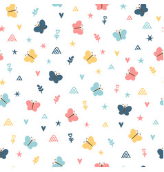 cute childish seamless pattern with hand drawn vector image