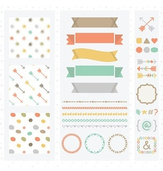 cute light color design elements set vector image