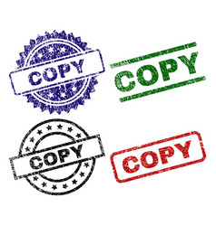 Damaged textured copy seal stamps vector