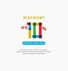 Discount up to 10 off limited time only label vector