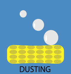 Dusting icon flat vector image