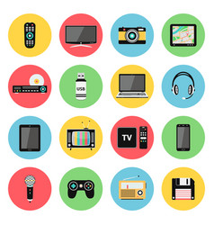 electronic devices technology gadgets icons vector image
