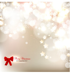 Elegant Christmas background with stars and place vector