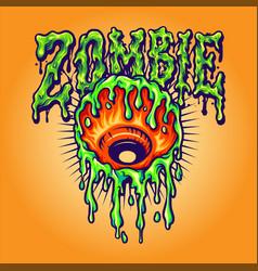 eye melt zombie vector image