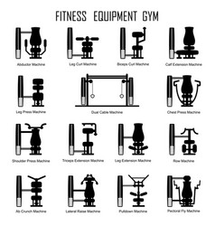 fitness equipmrnt gym vector image