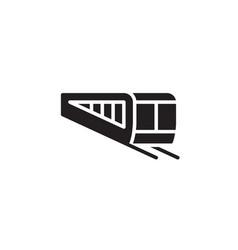 flat line train icon symbol sign logo template vector image