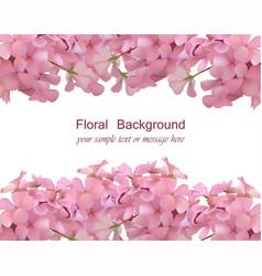 floral blossom card frame spring summer delicate vector image