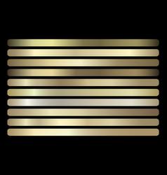 Gold gradient set shiny elegant golden vector