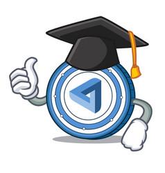 graduation maidsafecoin character cartoon style vector image