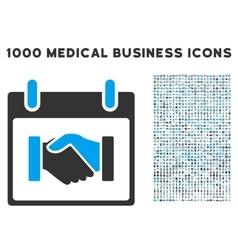 Handshake Calendar Day Icon With 1000 Medical vector
