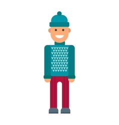 hipster boy vector image