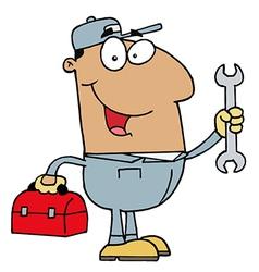 Hispanic mechanic guy vector